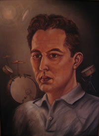 Kenny Ewickm oil on canvas, by George Stevens, ca. 1958